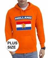 Oranje holland vlag grote maten sweater trui heren