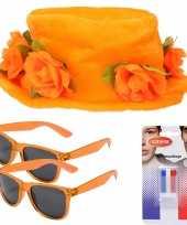 Oranje supporters verkleed set voor 2 personen 10277735