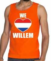 Oranje we love willem tanktop mouwloos shirt voor heren