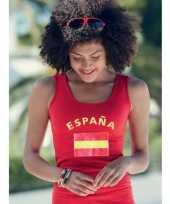 Rood dames shirtje met spaanse vlag 10041538