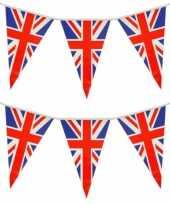 Set van 2x stuks union jack uk groot brittanie vlaggenlijnen 7 meter