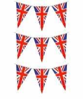 Set van 3x stuks union jack uk groot brittanie vlaggenlijnen 7 meter