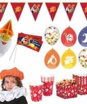 Sinterklaas thuis intocht feest versiering pakket xl voor 3 kinderen