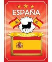 Spanje deurposter geel rood