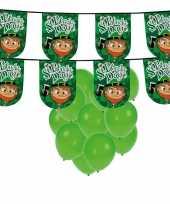 St patricks day versiering met ballonnen en slinger 10102679