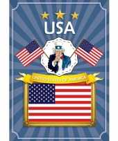 Usa deurposter stars and stripes