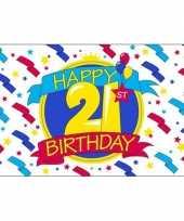 Verjaardag vlag 21 jaar