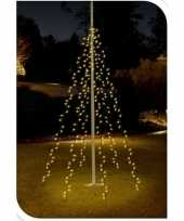 Vlaggenmast kerstverlichting voor in de tuin 360 lichtjes
