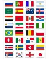 Wereld kampioenschap voetbal 2018 vlag pakket van gekwalificeerde landen